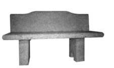 Zahradní lavice s opěradlem