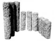 Palisády kulaté, ručně opracované